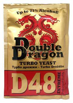 Спиртовые дрожжи Double Dragon D48 Extreme Turbo 132гр