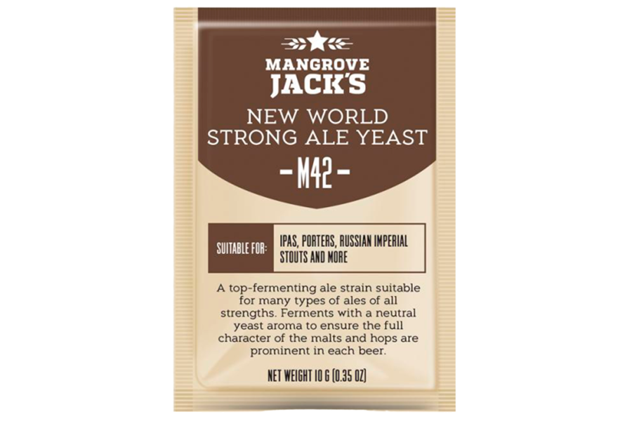 "Пивные дрожжи Mangrove Jack's ""New World Strong Ale M42"", 10 г"