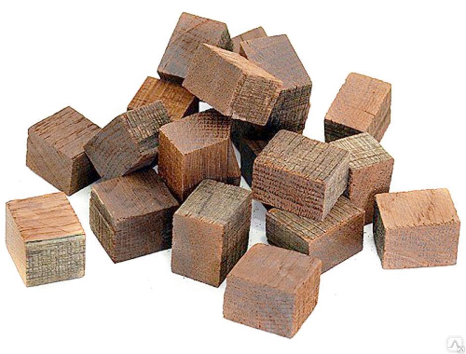 Кубики дубовые(средняя обжарка) Кавказский дуб 100 грамм Россия